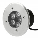5W Waterproof Red 5 LED Buried Light, AC 85-220V