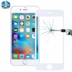 0.26mm 9H Surface Hardness 3D Explosion-proof Tempered Glass Screen Film for iPhone 6 & 6s(White)