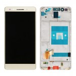 iPartsBuy Huawei Honor 7 LCD Screen + Touch Screen Digitizer Assembly with Frame(Gold)
