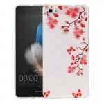 Coque pour Huawei P8 Lite Maple Leaves Motif IMD Workmanship Soft TPU Housse de protection - Wewoo