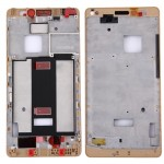 iPartsBuy Huawei Mate S Front Housing LCD Frame Bezel Plate(Gold)