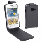 Vertical Flip Leather Case for Samsung Galaxy Ace Duos S6802, Black