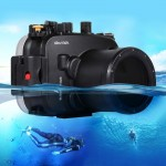 PULUZ 40m Underwater Depth Diving Case Waterproof Camera Housing for Sony A7 / A7S / A7R(Black)