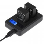LCD Screen Dual Batteries Charger for GoPro HERO3+ /3 (AHDBT-301, AHDBT-302), Displays Charging Capacity