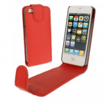Soft Texture Up and Down Open Leather Case for iPhone 5 & 5s & SE & SE (Red)
