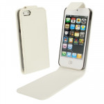 Housse Étui blanc pour iPhone 5 & 5s & SE & SE Soft Texture Up and Down en cuir ouverte - Wewoo