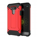 Coque rouge pour LG G5 Armure Tough TPU + PC - Wewoo