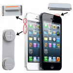 Kit de boutons pour iPhone 5 bouton Mute + d'alimentation + de volume - Wewoo