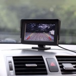 Universal 4.3 inch Car High Definition Monitor with Adjustable Angle Holder, Support Reverse Automatic Screen Function