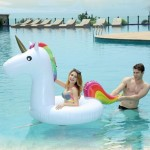 Inflatable Unicorn Shaped Swimming Ring, Inflated Size: 260 x 115 x 120cm