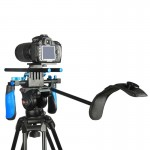 YELANGU YLG0102A-A01 Dual Handle Shoulder Mount Support Kit DSLR Rig(Black)