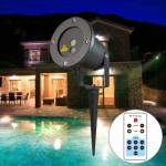 OD-12 5W Life Waterproof 12 in 1 Patterns Outdoor Lawn Yard Garden Decorative Laser Projector Lamp with Remote Controller (Green