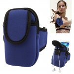 Thicken Nylon Fabric Double Layers Sports Armband Case for Samsung Galaxy S IV / i9500 / i9300 / i9190 (Blue)