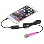 Stylish Mini Mobile Microphone with 3.5mm Audio Interface & 3.5 mm Male to 2 Female Plug Adapter Cable, Mic Cable Length: 1.6m(M
