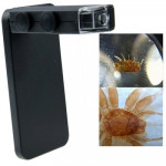 60-100X Zoom Digital Cell Phone Microscope Maginifier + Back Cover for iPhone 5 & 5S(Black)