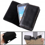 Leather Case with Clip for Samsung Galaxy Note III / N9000, Note II / N7100