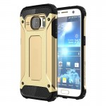 Coque renforcée Galaxy S7 Samsung / G930 Armure robuste TPU + Combinaison PC Case Gold - wewoo.fr