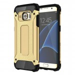 Coque renforcée or pour Samsung Galaxy S7 Edge / G935 Armure Tough TPU + PC Combinaison - Wewoo