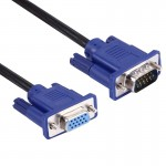 Good Quality VGA 15 Pin Male to VGA 15 Pin Female Cable for LCD Monitor, Projector, etc (Length: 1.5m)