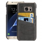 For Samsung Galaxy S7 Edge/ G935 Oil Wax Texture Leather Back Cover Case with Card Slots (Grey)