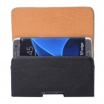 For Samsung Galaxy S7 Edge / G935 & S6 Edge / 925 Litchi Texture Vertical Flip Leather Case of Waist Bag with Back Splint (Black