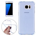 For Samsung Galaxy S7 Edge / G935 Shock-resistant Cushion TPU Protective Case (Blue)