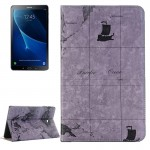 For Samsung Galaxy Tab A 10.1 / T580 Map Texture Horizontal Flip Leather Case with Holder & Card Slots & Wallet, Random Texture