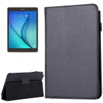 For Samsung Galaxy Tab A 8.0 / T350 Litchi Texture Magnetic Horizontal Flip Leather Case with Holder(Black)