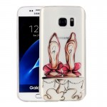 For Samsung Galaxy S7 / G930 Red High-heel Shoes Pattern IMD Workmanship Soft TPU Protective Case