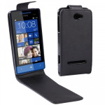 Vertical Flip Leather Case for HTC Zenith / 8S (Black)