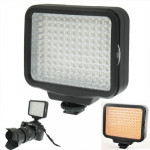 Lumière photographique LED-5009 120 LED Video Light with Soft Sheets & a Yellow Filters and 7.4V 4400mAh Sony NP-F770/750 li-...