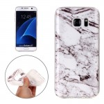 For Samsung Galaxy S7 / G930 White Marbling Pattern Soft TPU Protective Back Cover Case