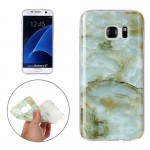 For Samsung Galaxy S7 / G930 Green Marbling Pattern Soft TPU Protective Back Cover Case