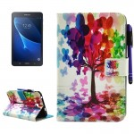 For Samsung Galaxy Tab A 7.0 (2016) / T280 Butterfly Tree Pattern Horizontal Flip Leather Case with Holder & Wallet & Card Slots