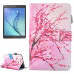For Samsung Galaxy Tab A 7.0 (2016) / T280 Peach Blossom Pattern Horizontal Flip Leather Case with Holder & Card Slots & Pen Slo