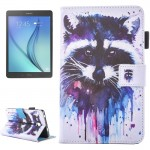 For Samsung Galaxy Tab A 7.0 (2016) / T280 Lovely Cartoon Raccoon Pattern Horizontal Flip Leather Case with Holder & Card Slots