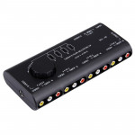 AV-109 Multi Box RCA AV Audio-Video Signal Switcher + 3 RCA Cable, 4 Group Input and 1 Group Output System(Black)