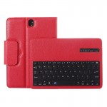 For Samsung Galaxy Tab S3 9.7 / T820 2 in 1 Detachable Bluetooth Keyboard Litchi Texture Leather Case with Holder (Red)