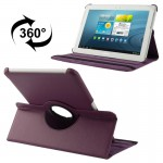 360 Degree Rotatable Litchi Texture Leather Case with Holder for Samsung Galaxy Tab 2 (10.1) / P5100(Purple)