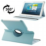 360 Degree Rotatable Litchi Texture Leather Case with Holder for Samsung Galaxy Tab 2 (10.1) / P5100(Blue)
