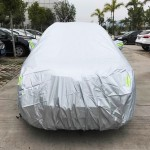 PVC Anti-Dust Sunproof SUV Car Cover with Warning Strips, Fits Cars up to 4.7m(183 Inches) In Length