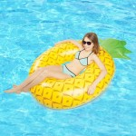 Inflatable Pineapple Shaped Swimming Ring, Inflated Size: 155 x 95cm