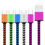 5 PCS Wave Woven Style Metal Head USB 3.1 Type C to USB 2.0 Data / Charger Cable Kit for Samsung Galaxy S8 & S8 + / LG G6 / Huaw