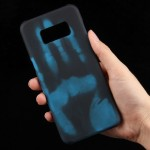 For Samsung Galaxy S8 + / G9550 Paste Skin + PC Thermal Sensor Discoloration Protective Back Cover Case(Blue)