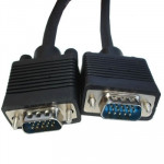 Good Quality VGA 15 Pin Male to VGA 15Pin Male Cable for LCD Monitor , Projector , Length: 20m(Black)