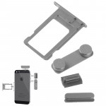 4 in 1 for iPhone 5 & 5S (Original Alloy Material Colorful Nano SIM Card Tray + Volume Button + Power Button + Mute Button)