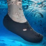 Comfortable and anti-slip 3MM swimming diving socks breathable water to swim the beach socks Size:M (37-38)(Black)