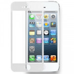 Tempered Glass Protective Film for iPhone 5 & 5S & 5C(White)