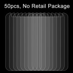 50 PCS 4.5 inch Mobile Phones 0.26mm 9H Surface Hardness 2.5D Explosion-proof Tempered Glass Film, No Retail Package
