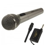 Handheld Wireless / Wired Microphone with Receiver & Antenna, Effective Distance: 8-20m